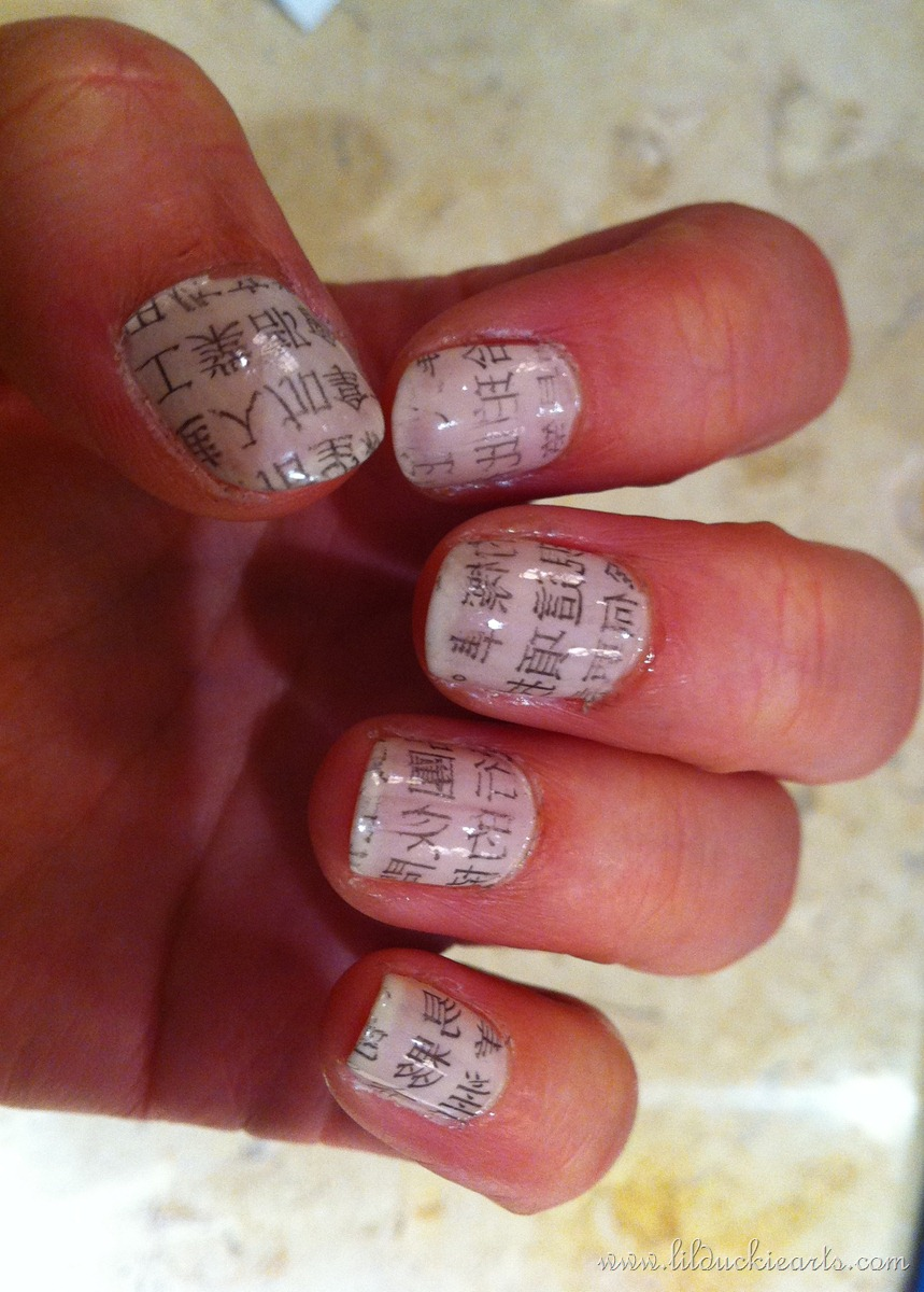Newspaper Nails Without Newspaper | Best Nail Designs 2018